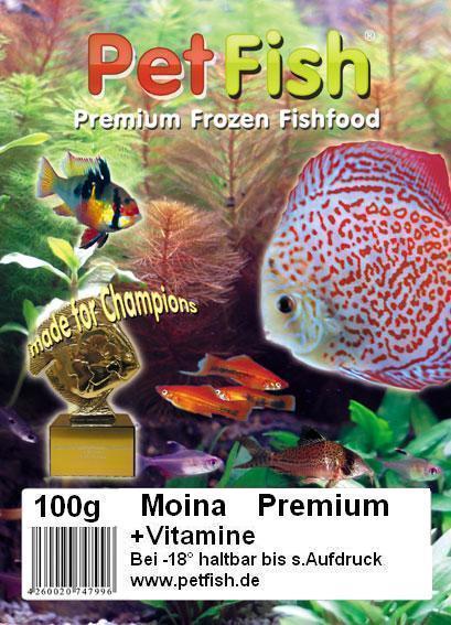 Moina premium premium frozen fishfoot for Robuste zierfische